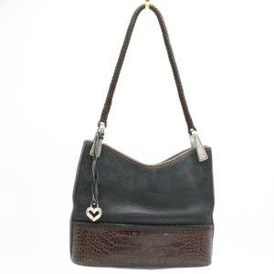 Brighton Vintage Black and Brown Shoulder Bag
